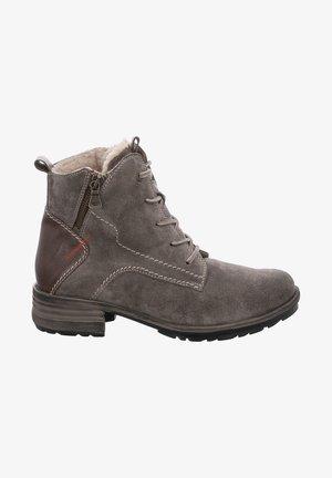 SANDRA - Lace-up ankle boots - grau/kombi