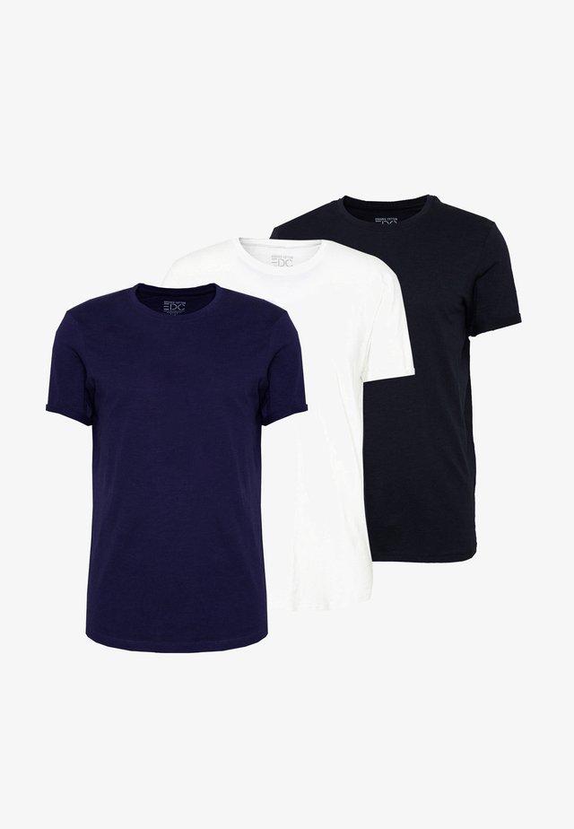OCS 3PACK - T-shirt basic - black