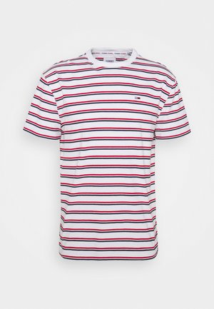 TWO TONE STRIPE CLASSIC TEE - T-shirts print - red