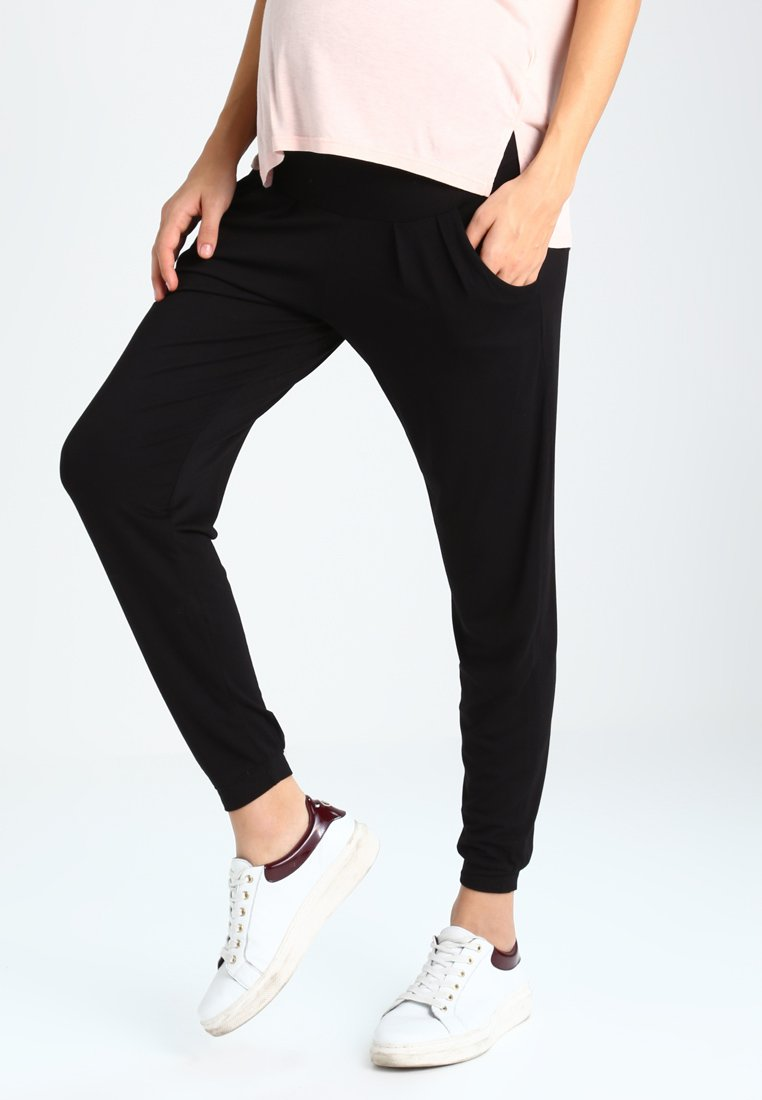 Dorothy Perkins Maternity - SOFT OVER BUMP - Tracksuit bottoms - black