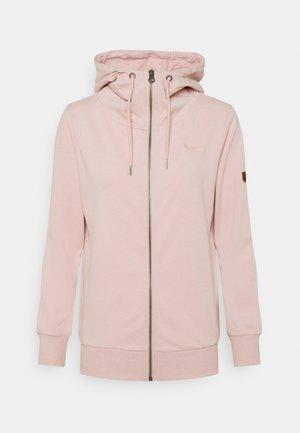 ANNE - Zip-up sweatshirt - soft pink