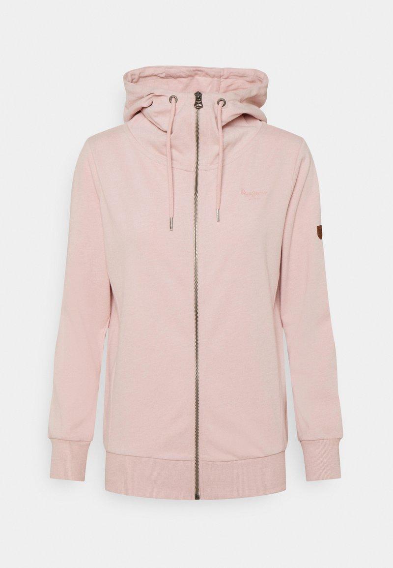 Pepe Jeans - ANNE - Zip-up sweatshirt - soft pink