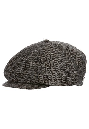 BROOD - Beanie - brown/khaki herringbone
