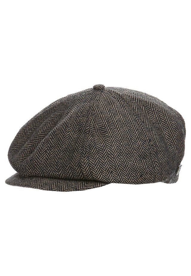 BROOD - Czapka - brown/khaki herringbone