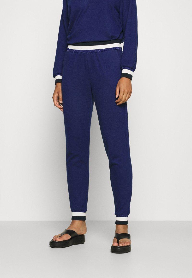 Cream - MONA PANTS - Trousers - medieval blue