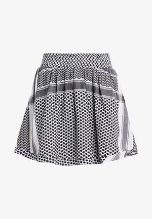 SKIRT - A-line skirt - black/white