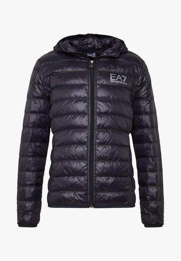 EA7 Emporio Armani JACKET - Kurtka puchowa - black/czarny Odzież Męska PJMP