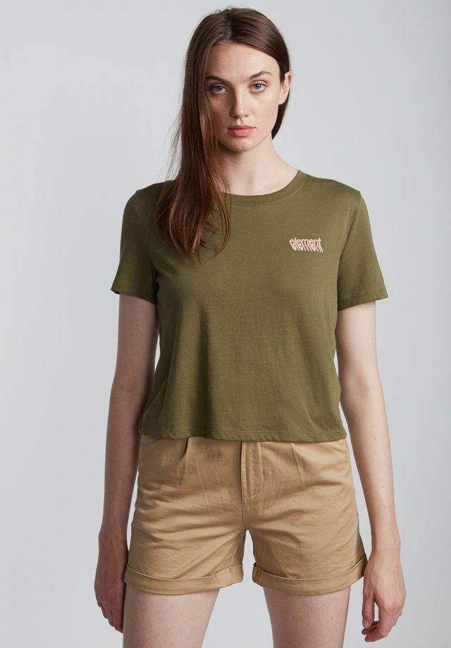 BRANDED  - Print T-shirt - army