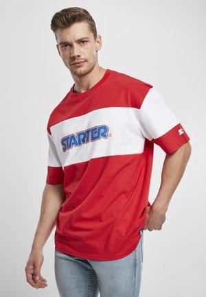 Print T-shirt - city red/white