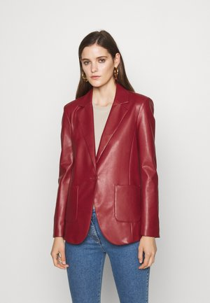 JACKETS - Faux leather jacket - red earth