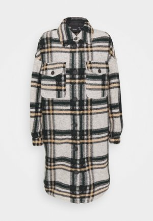 VMCHRISSIE LONG CHECK SHIRT - Manteau classique - light grey melange/pine grove