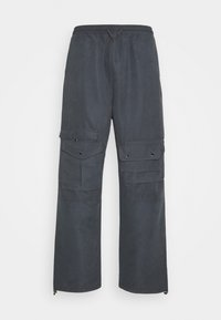 POCKET TRACK PANTS - Cargo trousers - navy dust