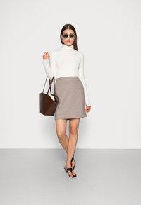 Esprit Collection - SKIRTS WOVEN - Mini skirt - caramel - 1