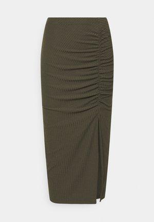 ONLNELLA SLIT SKIRT - Falda de tubo - kalamata