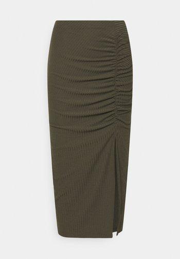 ONLNELLA SLIT SKIRT - Pencil skirt - kalamata