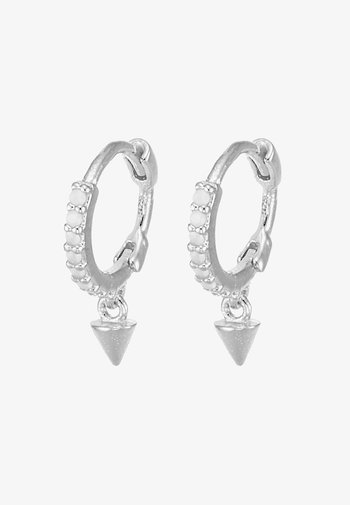 MYSTIC SPIKE HUGGIES - Earrings - silver-coloured