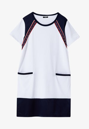 Jersey dress - white/blue