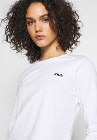 Fila - EAVEN - Top sdlouhým rukávem - bright white - 4