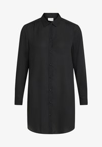 Vila - Button-down blouse - black - 4