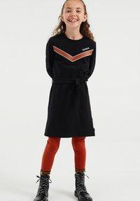 WE Fashion - Gebreide jurk - black - 0