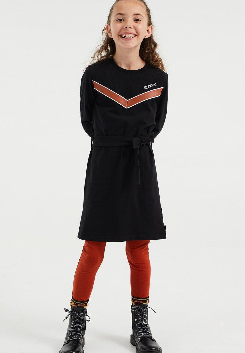 WE Fashion - Gebreide jurk - black