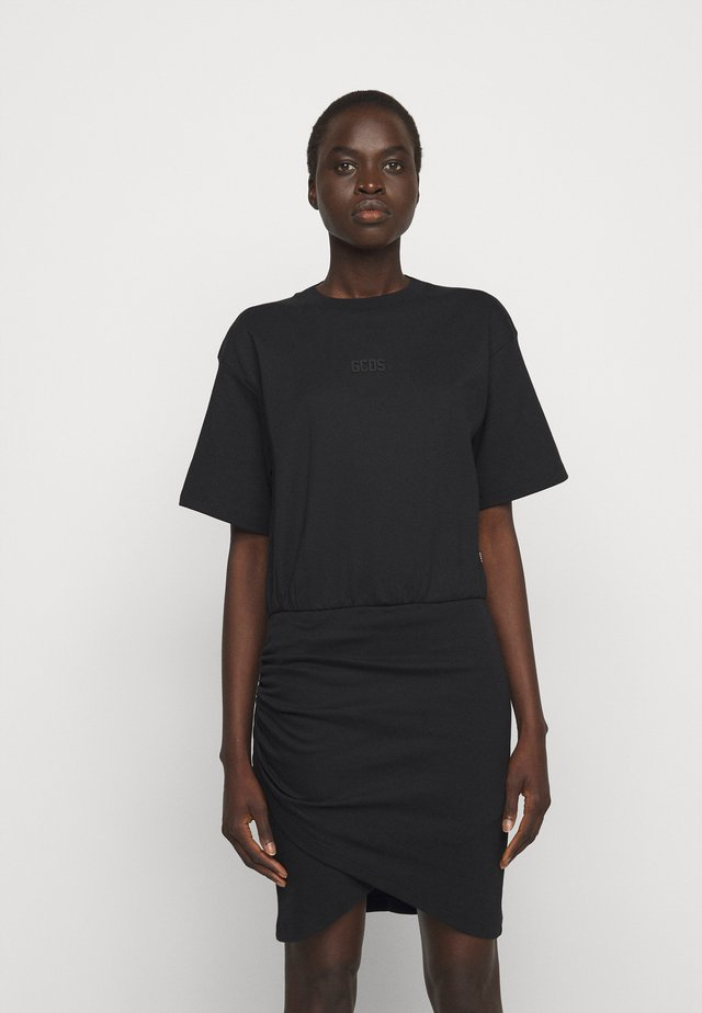 FRUIT WRAPPED DRESS - Jersey dress - black