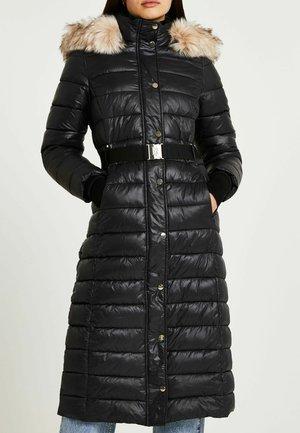 BELTED LONGLINE PUFFER - Winter coat - black