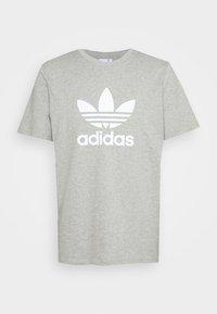 TREFOIL UNISEX - Print T-shirt - medium grey heather/white