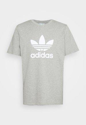 TREFOIL UNISEX - T-shirt con stampa - medium grey heather/white