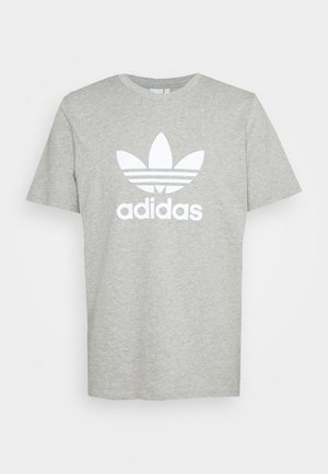 TREFOIL UNISEX - T-shirt imprimé - medium grey heather/white