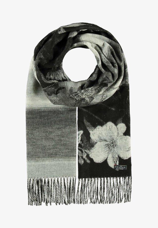 MIT FLORALEM MUSTER - Sciarpa - schwarz