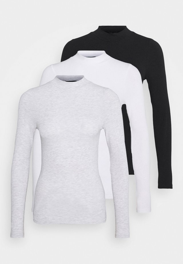TURTLE NECK 3 PACK - Long sleeved top - black