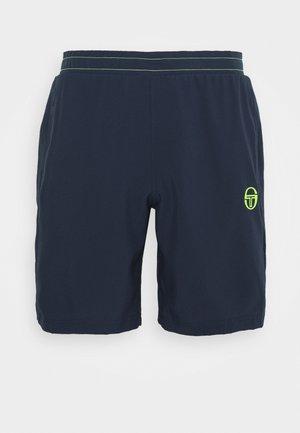 CLUB TECH  - Pantalón corto de deporte - navy/yellowfluo