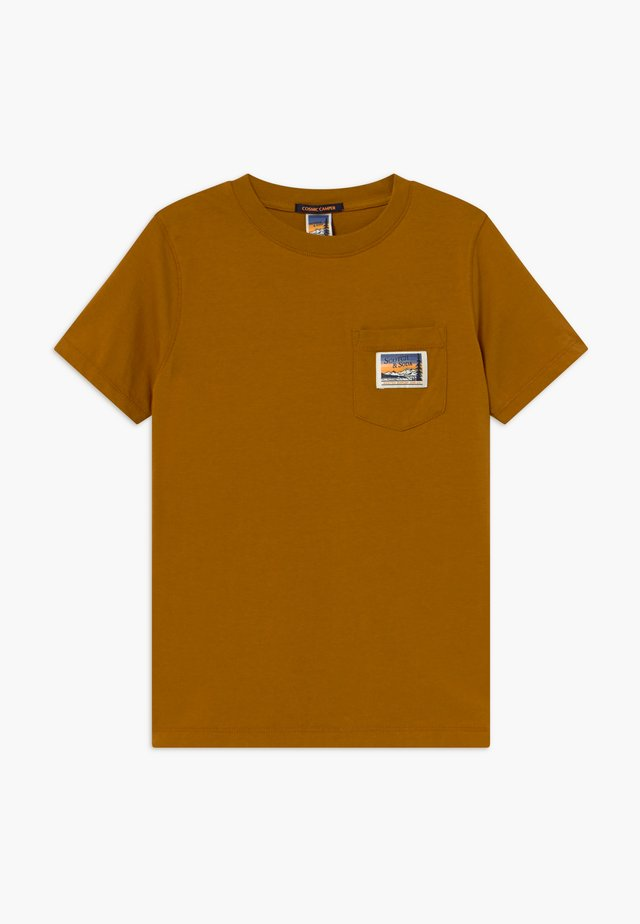 SHORT SLEEVE TEE WITH POCKET - T-shirts - caramel