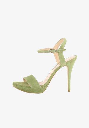 VALERIA - Sandalen met hoge hak - olive