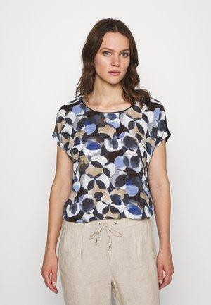 MASSTAB - T-shirts med print - dark blue/taupe