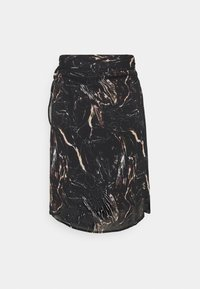 Replay - SKIRT - Mini skirt - black/natural white - 7