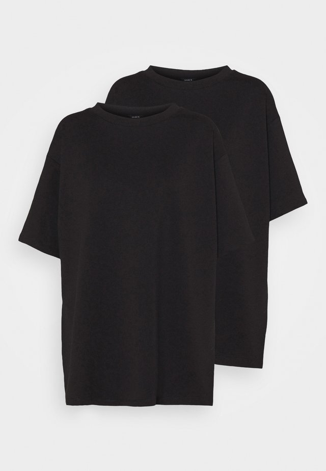 TEE MOON 2 PACK - Jednoduché triko - black