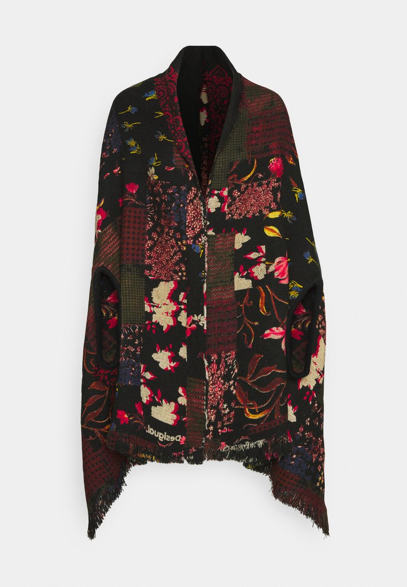 Desigual - PONCHO FREE STYLE PATCH - Kapper - black