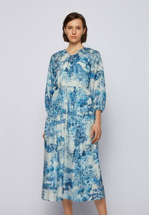 DIVILERA - Day dress - blue, white