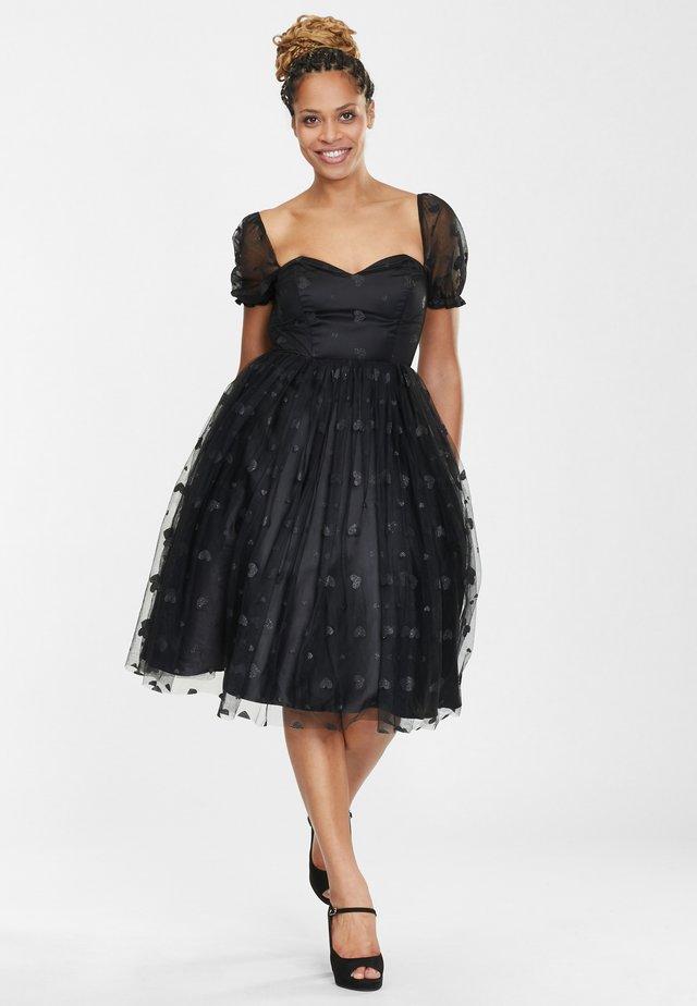 SKYLAR GLITTER HEART - Vestito elegante - black