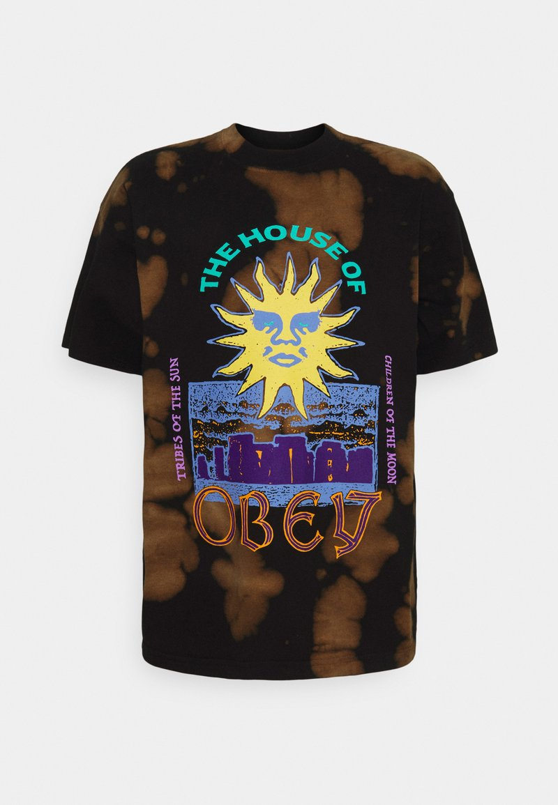 Obey Clothing - THE HOUSE - Printtipaita - black