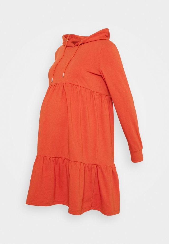 MLJOANNE SHORT DRESS - Jerseyjurk - chili