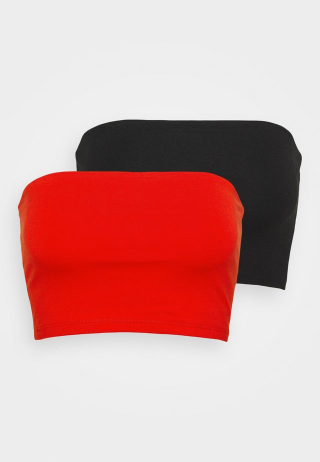 MILA BANDEAU 2 PACK - Top - black/happy red