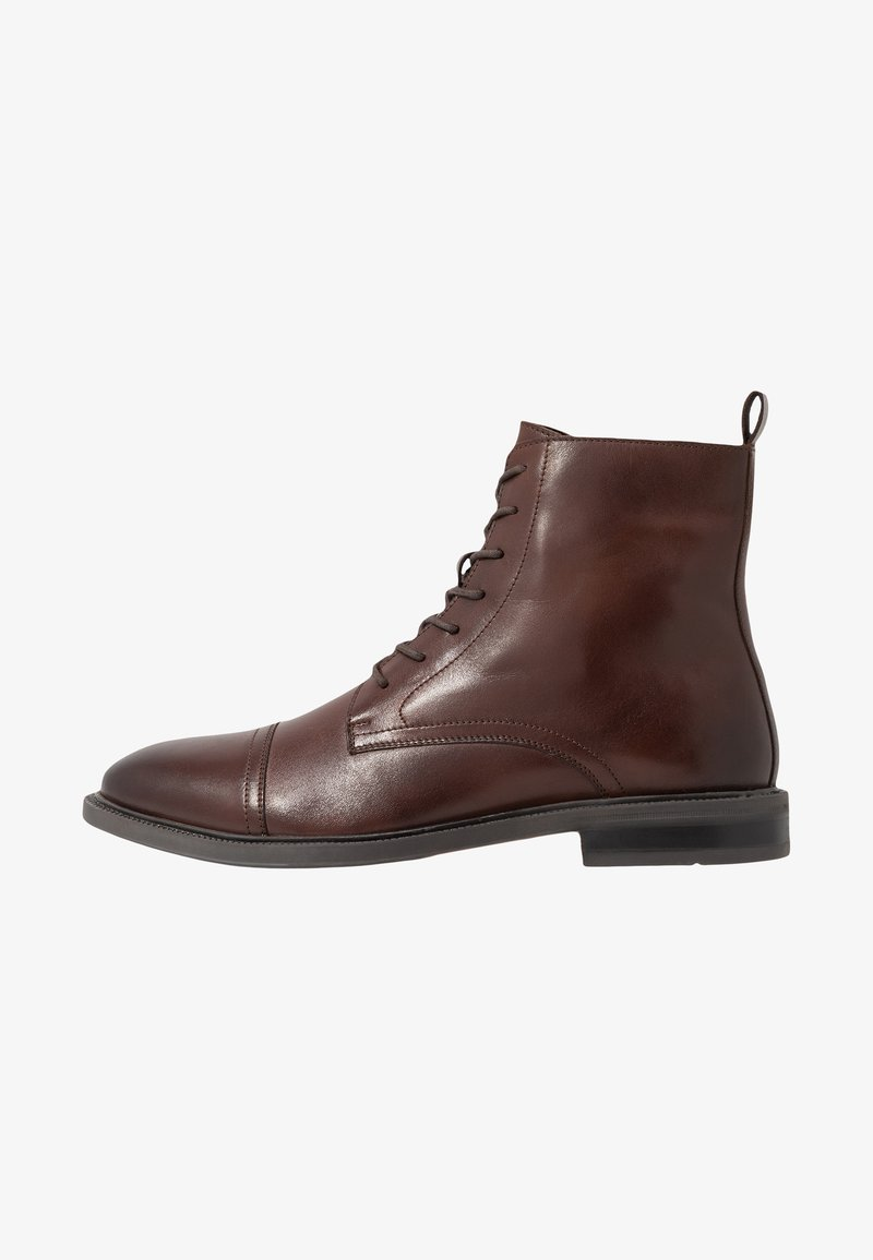 Zign - LEATHER - Lace-up ankle boots - brown