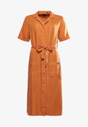 Shirt dress - toasted orange