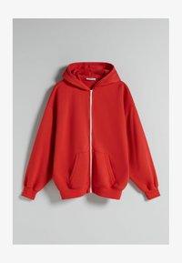 Bershka - OVERSIZE - Sweater met rits - red - 4