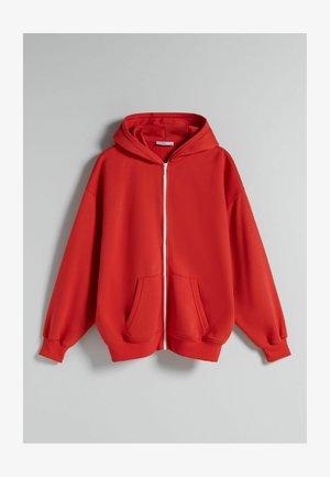 OVERSIZE - Zip-up sweatshirt - red
