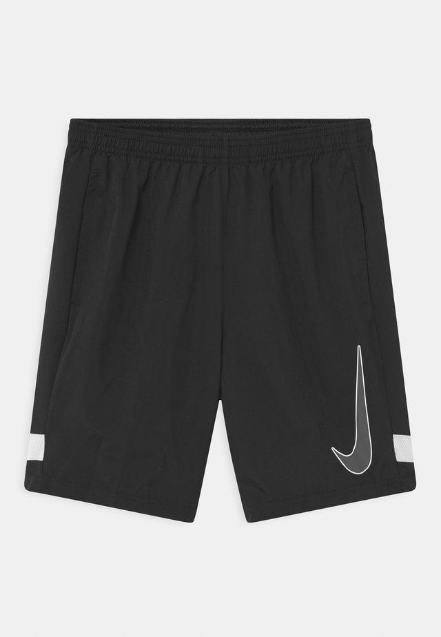 ACADEMY UNISEX - kurze Sporthose - black/white/iron grey