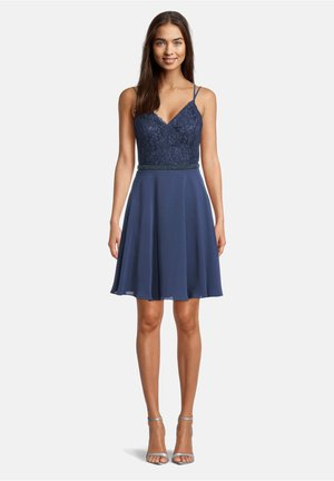 MIT SPITZE - Cocktail dress / Party dress - milky  navy